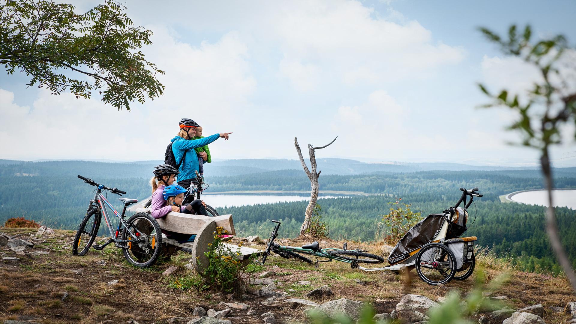 Auf der Blockline mit dem Montainbike oder E-Bike unterwegs