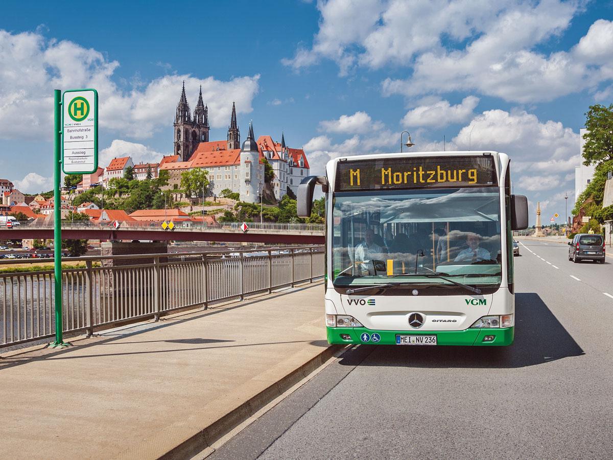 Meißen Albrechtsburg Bus