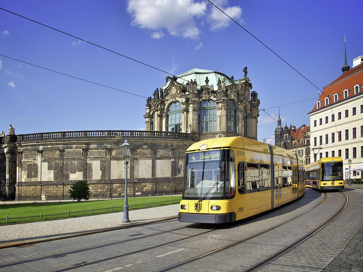 Dresden Zwinger Straßenbahn