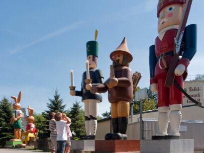 Holzfiguren Gahlenz Oederan Erzgebirge