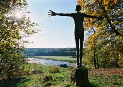 Oberhalb der Mulde erstreckt sich in Höfgen bei Grimma der romantische Jutta-Park.