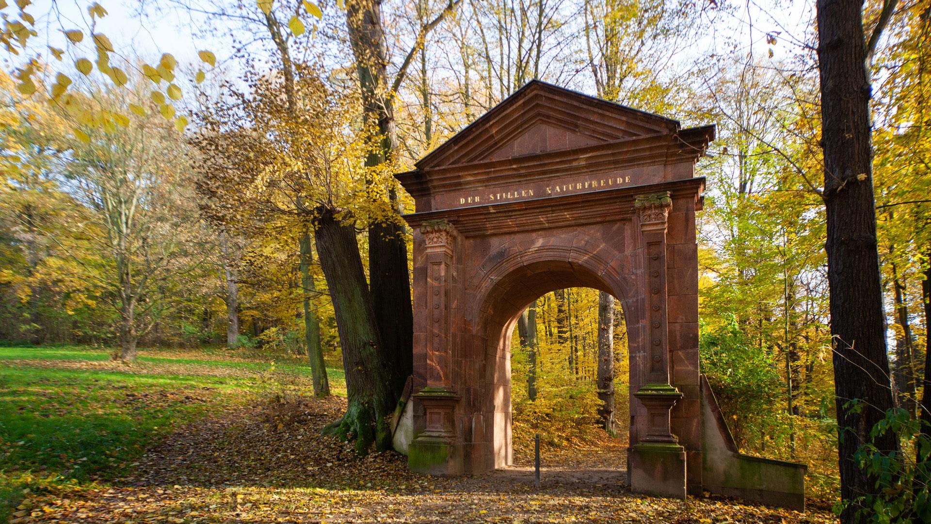 Grünfelder Park in Waldenburg in Sachsen