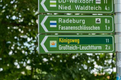 Wanderweg Königsweg Moritzburg Elbland