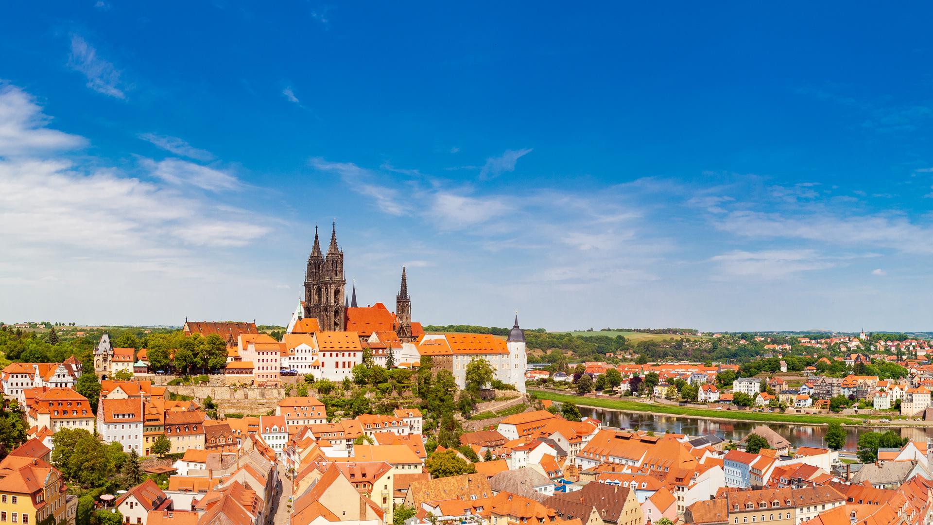 Blick auf die Meißener Altstadt