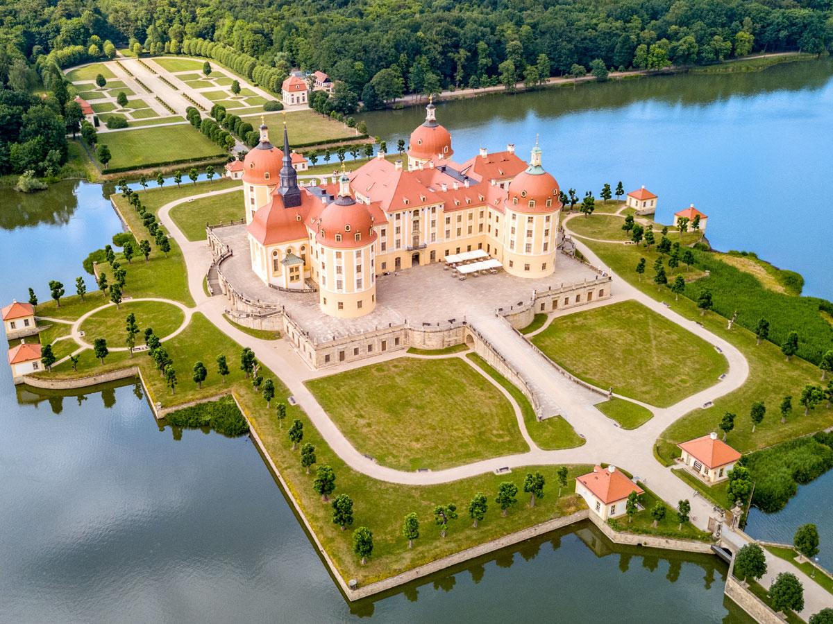 Schloss Moritzburg Elbland Sachsen
