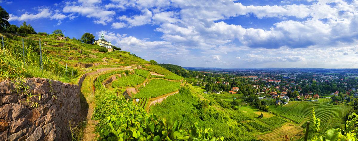 Spitzhaustreppe Radebeul Weinwanderweg Sachsen