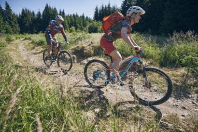 Auf dem Rabenberg im Westerzgebirge befindet sich der erste Single-Trail-Mountainbikepark Deutschlands.